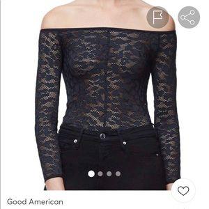 Good American lace bodysuit.